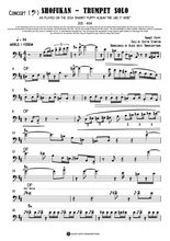Load image into Gallery viewer, Shofukan - Trumpet Solo (Concert - Bass Clef) (PREVIEW)
