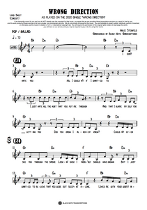 Wrong Direction - Concert Lead Sheet (PREVIEW)