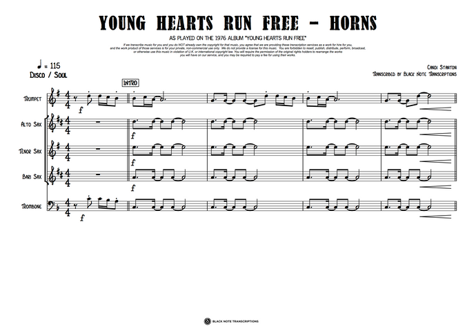 Young Hearts Run Free - Horns (PREVIEW)
