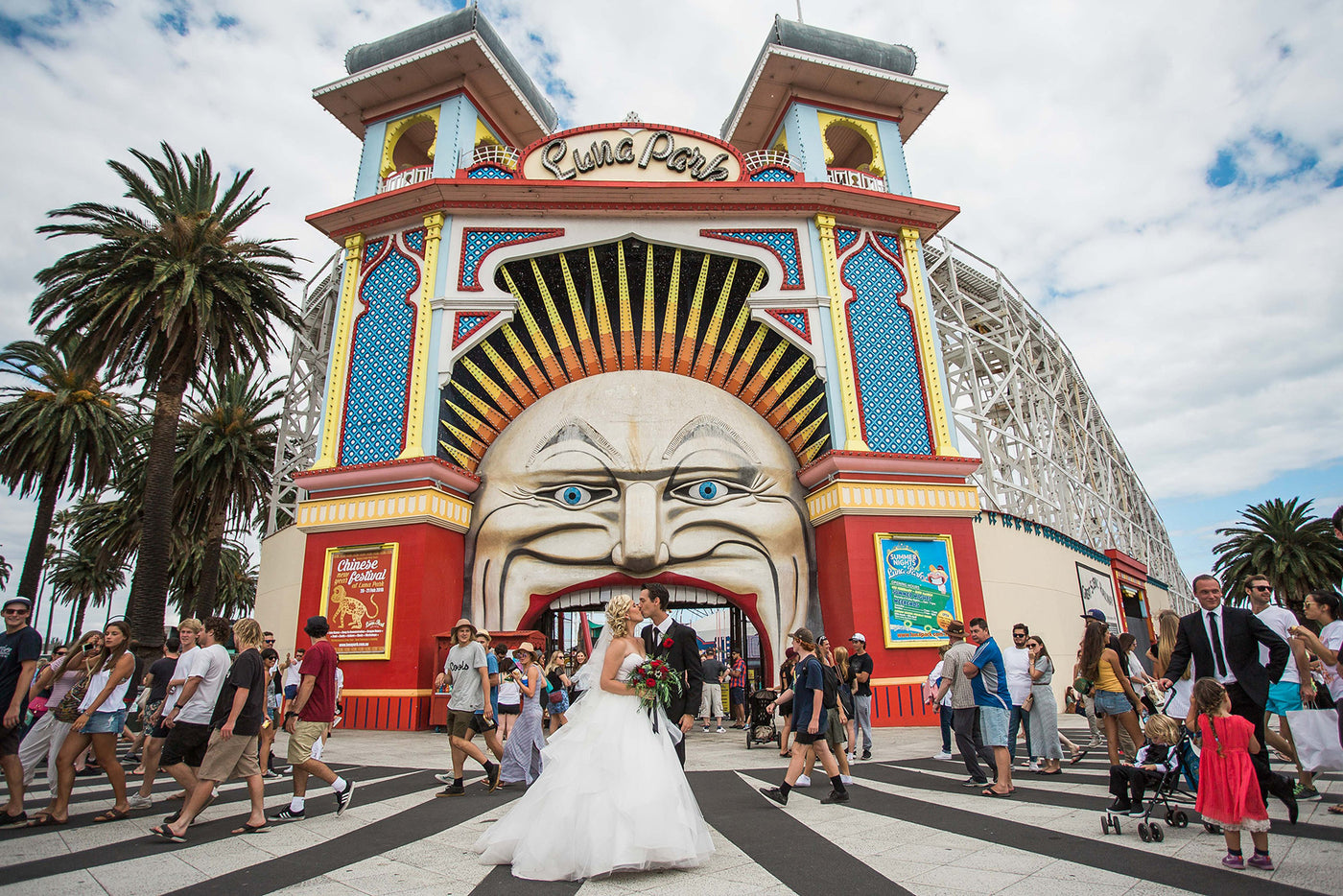 ST KILDA FESTIVAL WEDDING SPONSORED BY ETERNAL BRIDAL