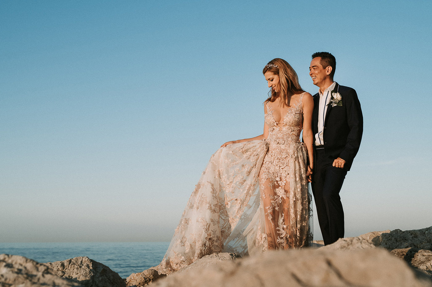 REAL BRIDE CAROLINA MARRIES IN GALIA LAHAV FOR HER DESTINATION WEDDING IN ITALY