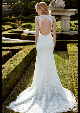 Ingwiller - Sample Gown, Online Sample Sale, Blue by Enzoani - Sample Gown - Eternal Bridal