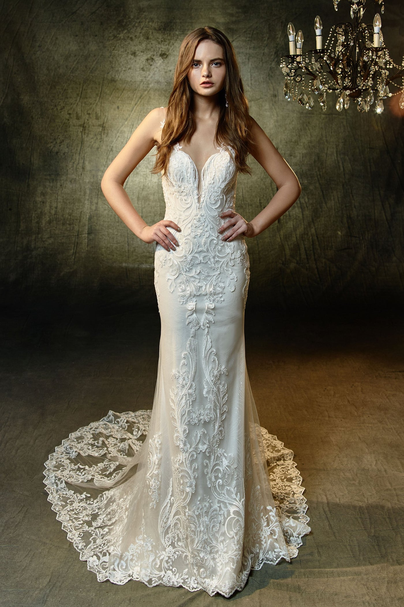 Lunaire - Sample Gown, Online Sample Sale, Blue by Enzoani - Sample Gown - Eternal Bridal