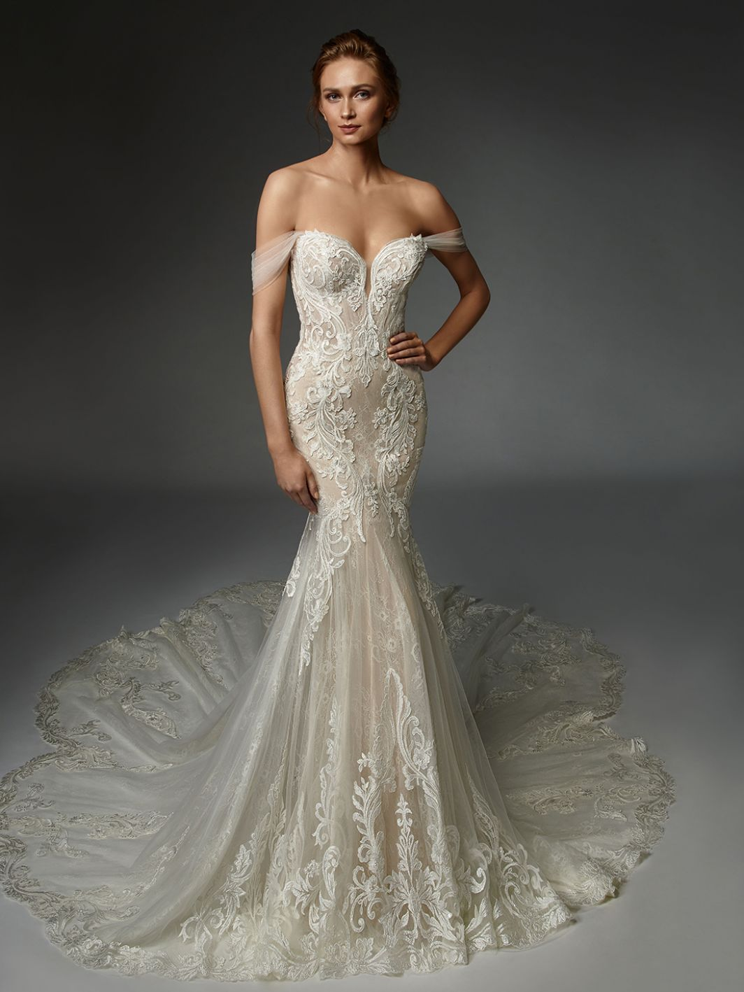 Athénaïs - New, Gown, Élysée by Enzoani - Eternal Bridal