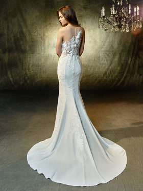 Linwood - Sample Gown, Online Sample Sale, Blue by Enzoani - Sample Gown - Eternal Bridal
