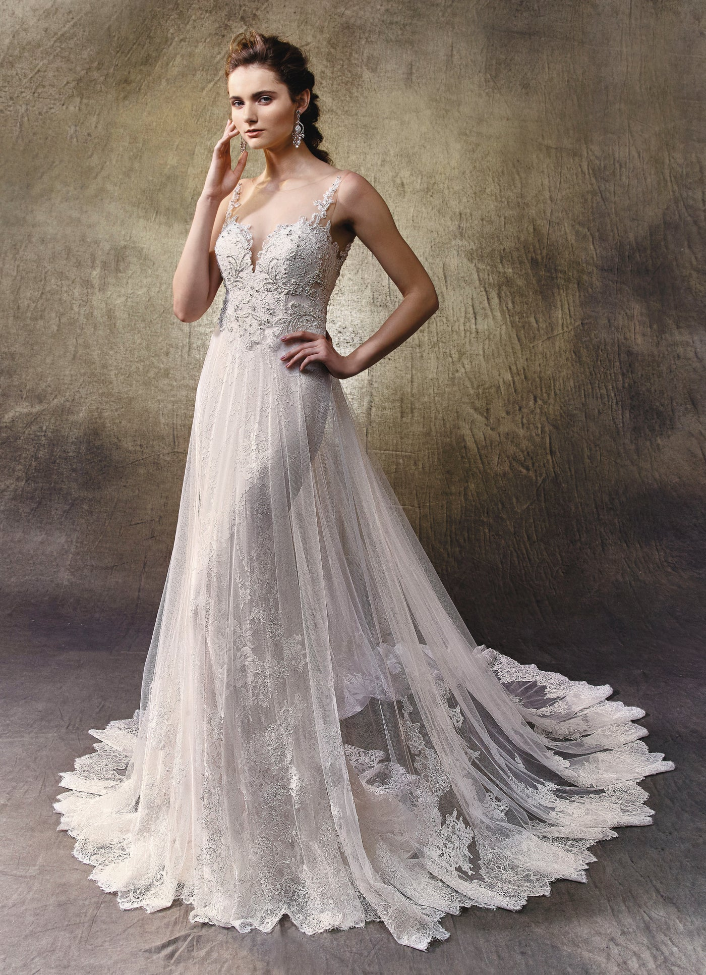 Lovely - Sample Gown, Online Sample Sale, Blue by Enzoani - Sample Gown - Eternal Bridal