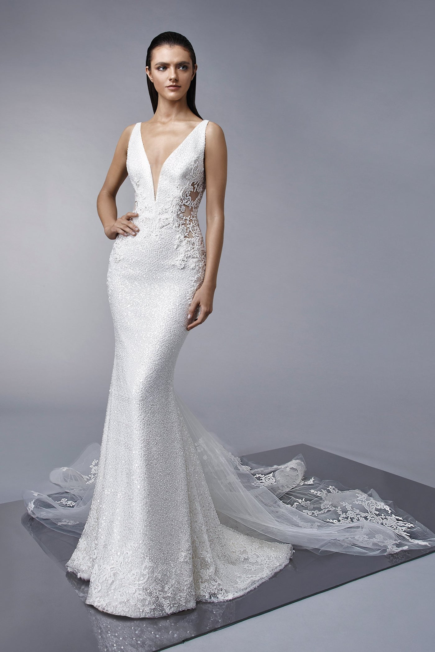 Miley - Sample Gown, Online Sample Sale, Enzoani - Sample Gown - Eternal Bridal
