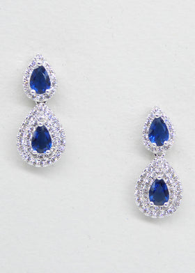 Carine - Blue, Jewellery, Eternal Bridal - Eternal Bridal