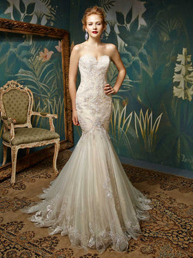 Jion - Sample Gown, Online Sample Sale, Blue by Enzoani - Sample Gown - Eternal Bridal