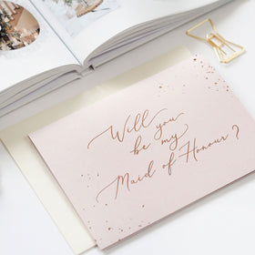 Will You Be My Maid of Honour - Card, Bridal Gifts, Blush & Gold - Eternal Bridal