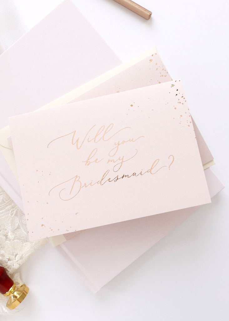Will You Be My Bridesmaid - Card, Bridal Gifts, Blush & Gold - Eternal Bridal
