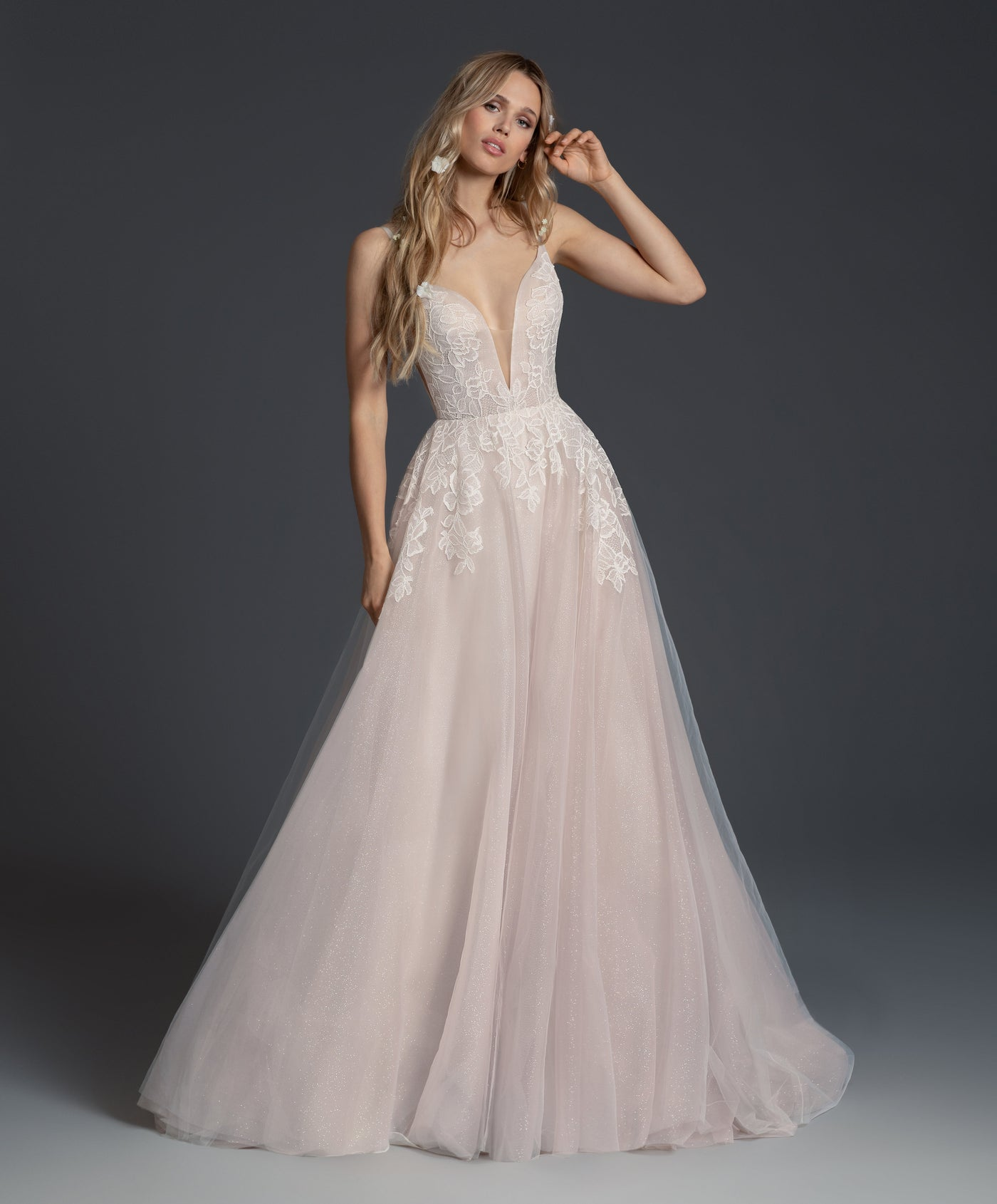 Fiona - New, Gown, Blush by Hayley Paige - Eternal Bridal