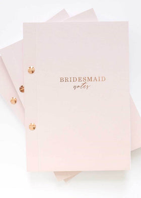 Bridesmaid Notebook, Bridal Gifts, Blush & Gold - Eternal Bridal