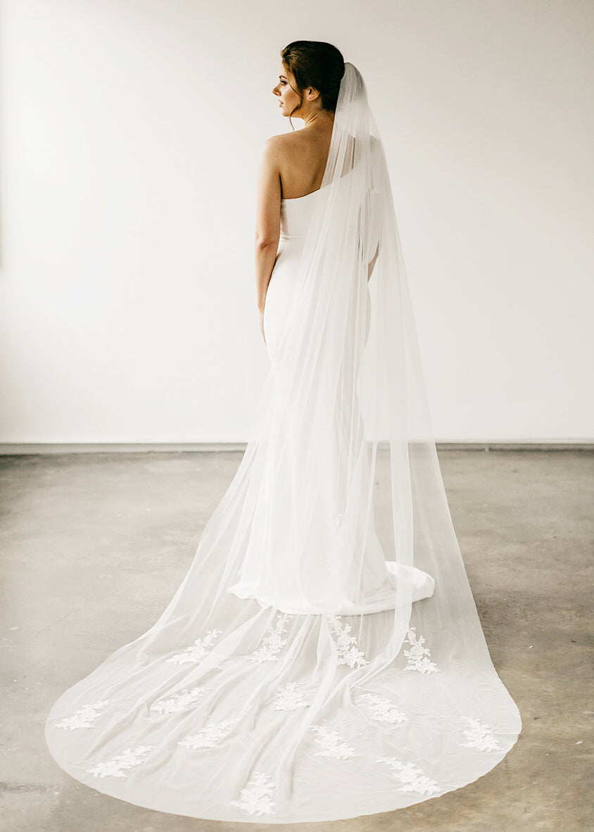Scattered Lace Veil, Veils, Eternal Bridal - Eternal Bridal