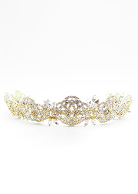 English Rose Crown, Headpiece, Eternal Bridal - Eternal Bridal