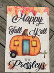 Happy Fall Y'all Personalized Garden Flag