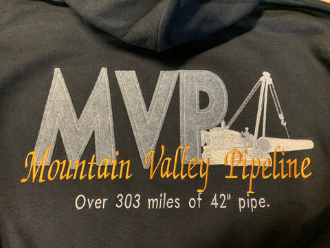 MVP EMBROIDERED HOODIE (Mountain Valley Pipeline)