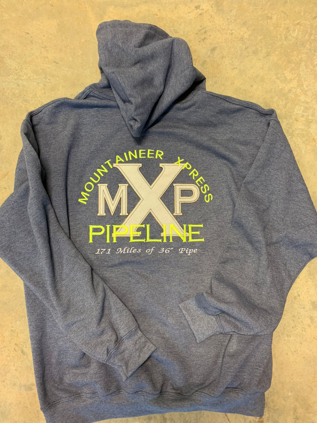 MXP EMBROIDERED HOODIE (Mountaineer Xpress Pipeline)