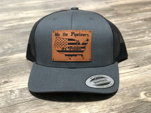 We the Pipeliners Leather Patch Hat
