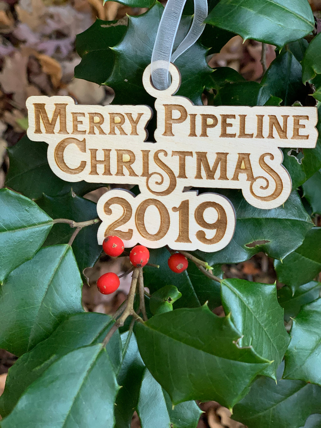 Merry Pipeline Christmas Ornament