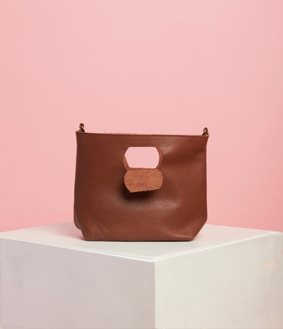 Brown Leather Handbag - The Smaller Size