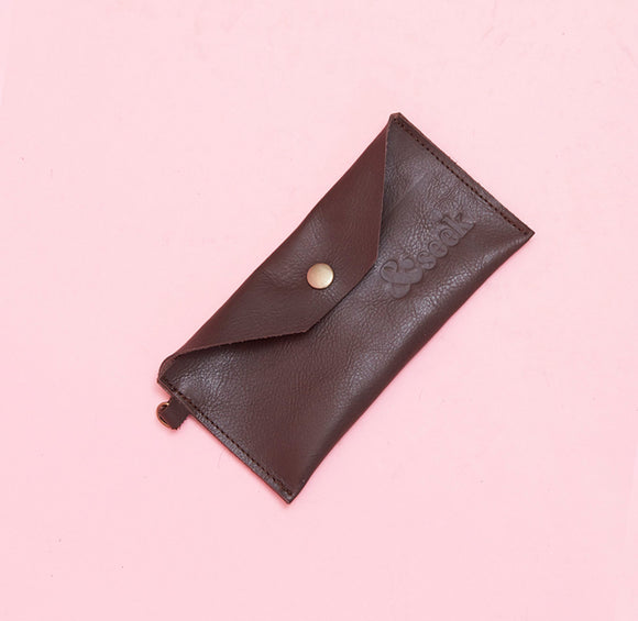 Choc Brown Leather Pouch