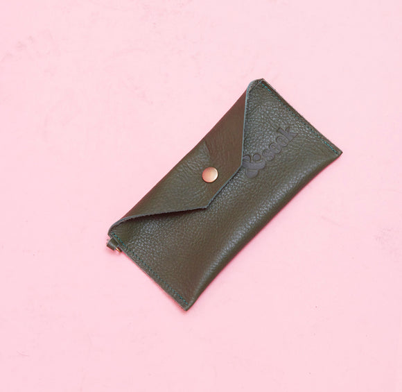 Emerald Green Leather Pouch