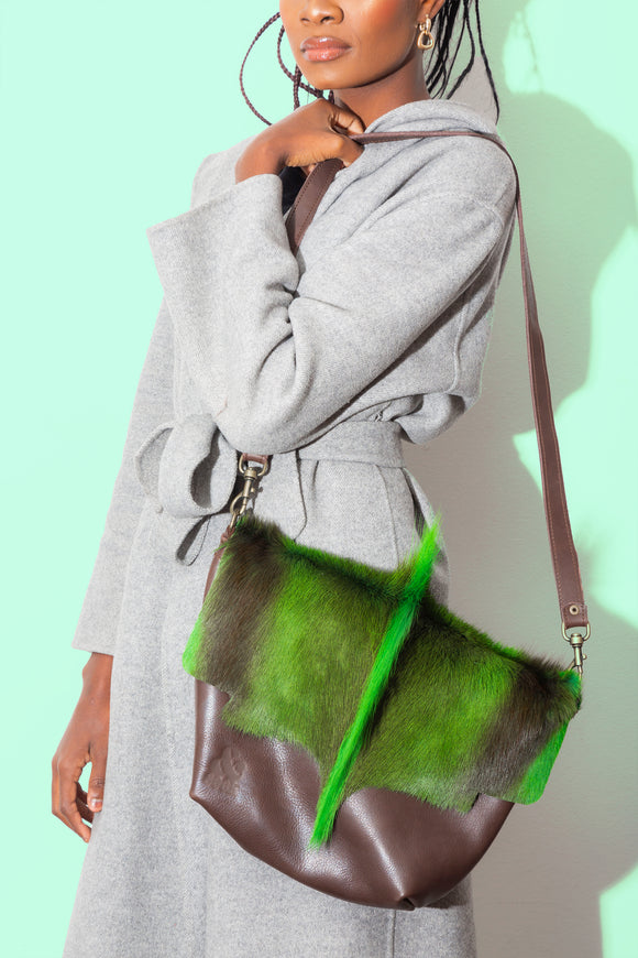 Neon Green Springbok WATEVR Handbag - The Smaller Size