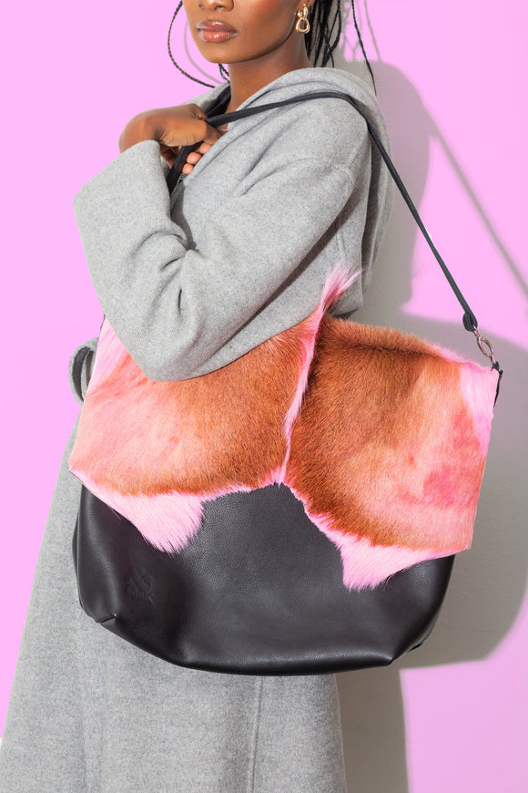 Pink Springbok WATEVR Handbag - The Bigger Size