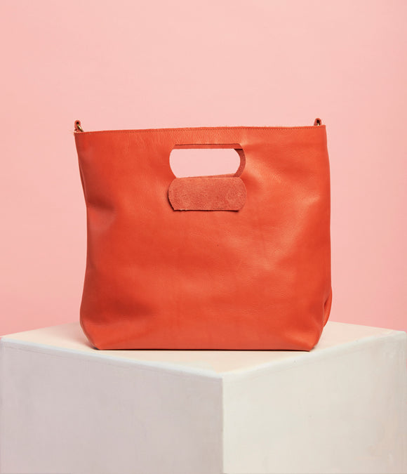 Naartjie Leather Handbag - The Bigger Size