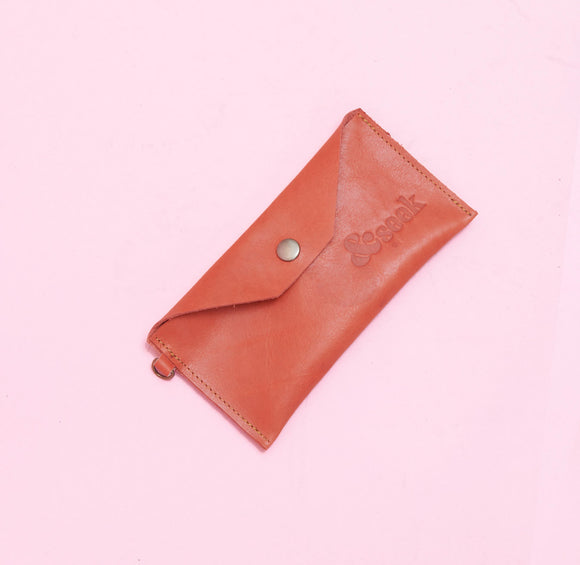 Naartjie Leather Pouch