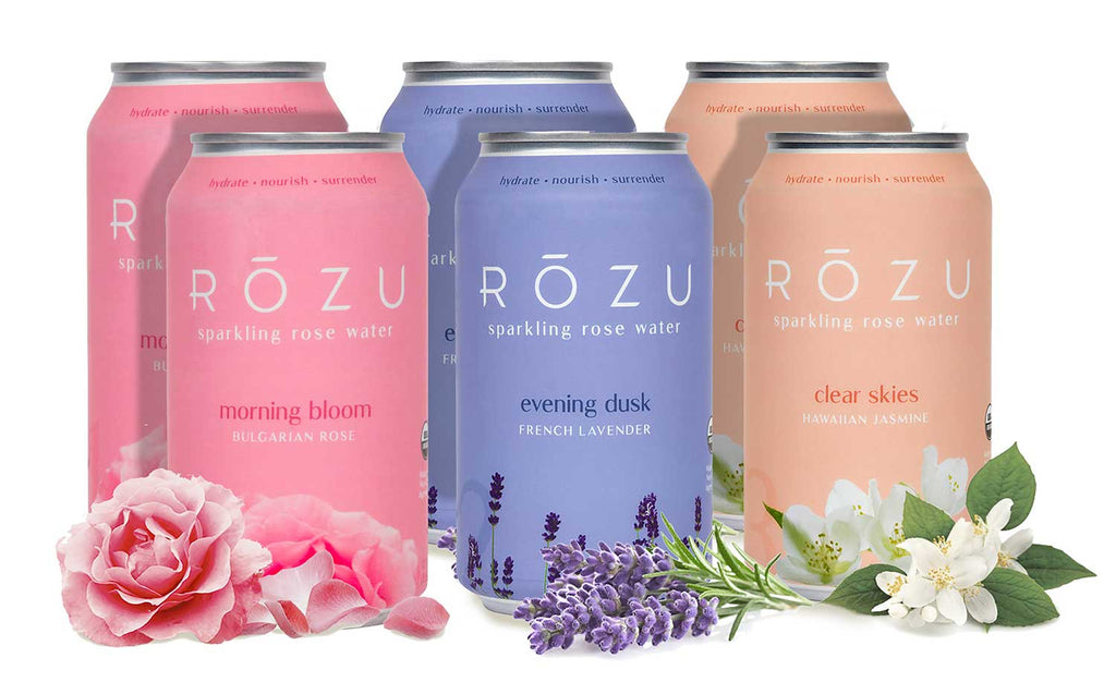 Rōzu Variety 6-Pack ( 2 of each flavor ) - Rōzu - Sparkling Rose Water