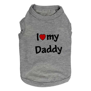 I Love My Daddy Dog Shirt