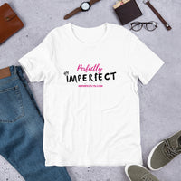 Perfectly Imperfect Short-Sleeve Unisex White T-Shirt