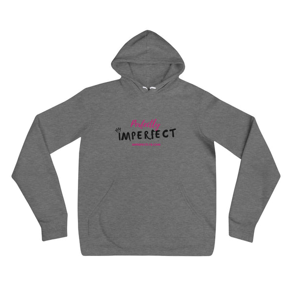 Perfectly Imperfect Unisex White/Grey Hoodie