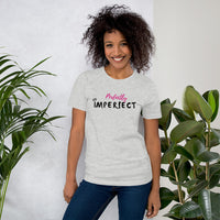 Perfectly Imperfect Short-Sleeve Unisex T-Shirt (White/Grey)