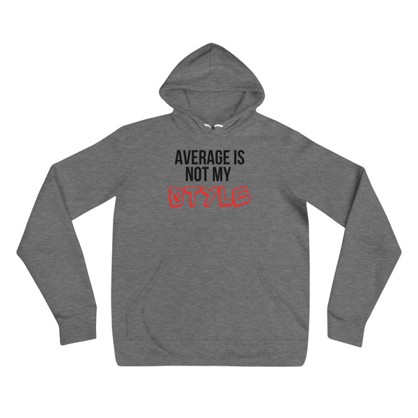 Average Is Not My Style (Graffiti) Unisex Hoodie (White/Grey)