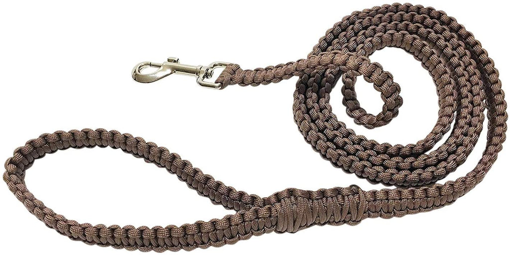 Ten Point Gear 6 Feet Long Nylon Durable & Comfortable Paracord Dog Leash with Strong Metal Clasp (Retriever Brown)