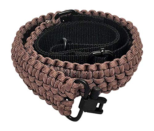Ten Point Gear Extra Wide Gun Sling Paracord 550 Adjustable w/Swivels (Coyote Brown)