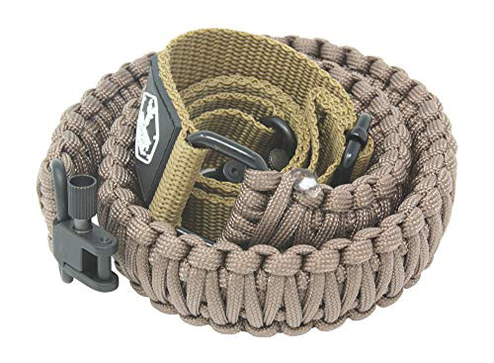 Ten Point Gear Gun Sling Paracord 550 Adjustable w/Swivels (Coyote Brown)