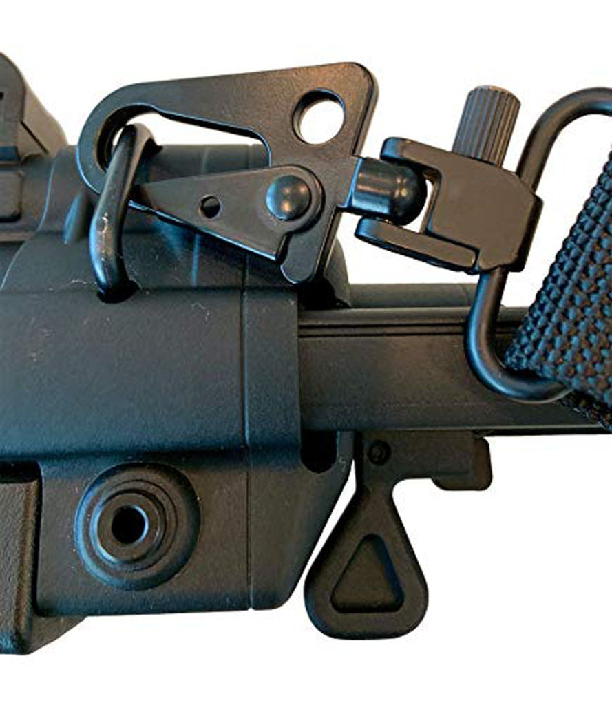Ten Point Gear - Swivel Mount to HK Clip Adapter. Set of 2. Patent Pending Design. Attach to QD Sling Loop or Swivel Mounts. Suitable for Almost Any Rifle, Shotgun, Cross Bow Sling