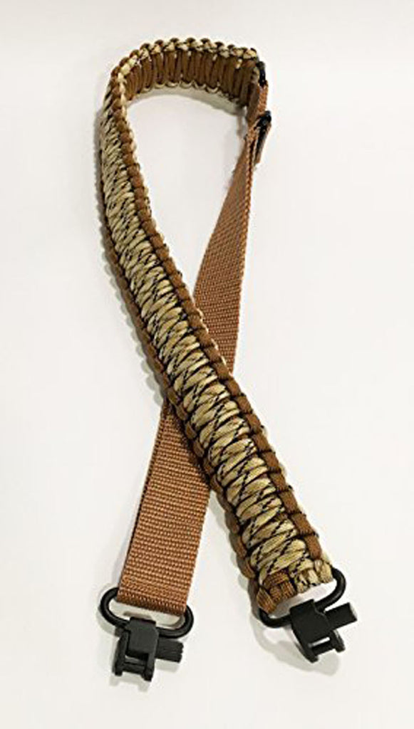 Ten Point Gear Gun Sling Paracord 550 Adjustable w/Swivels (Brown & Tan Camo)