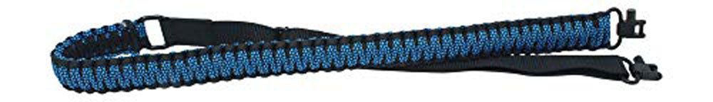 Ten Point Gear Gun Sling Paracord 550 Adjustable w/Swivels (Black & Blue Diamonds)
