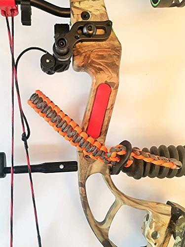 Ten Point Gear Bow Archery Wrist Sling 550 Paracord - Survival Hunting Shooting - Durable Leather with Metal Grommet (Blaze Camo)