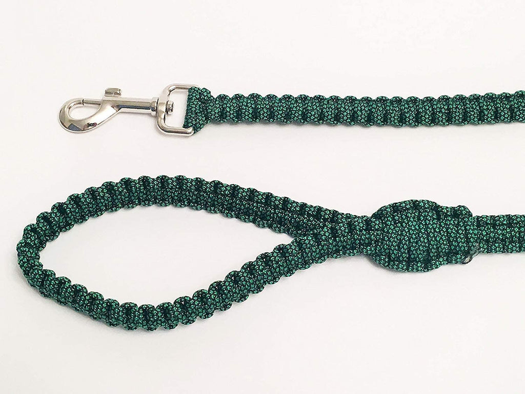 Ten Point Gear 6 Feet Long Nylon Durable & Comfortable Paracord Dog Leash with Strong Metal Clasp (Green Fleck)