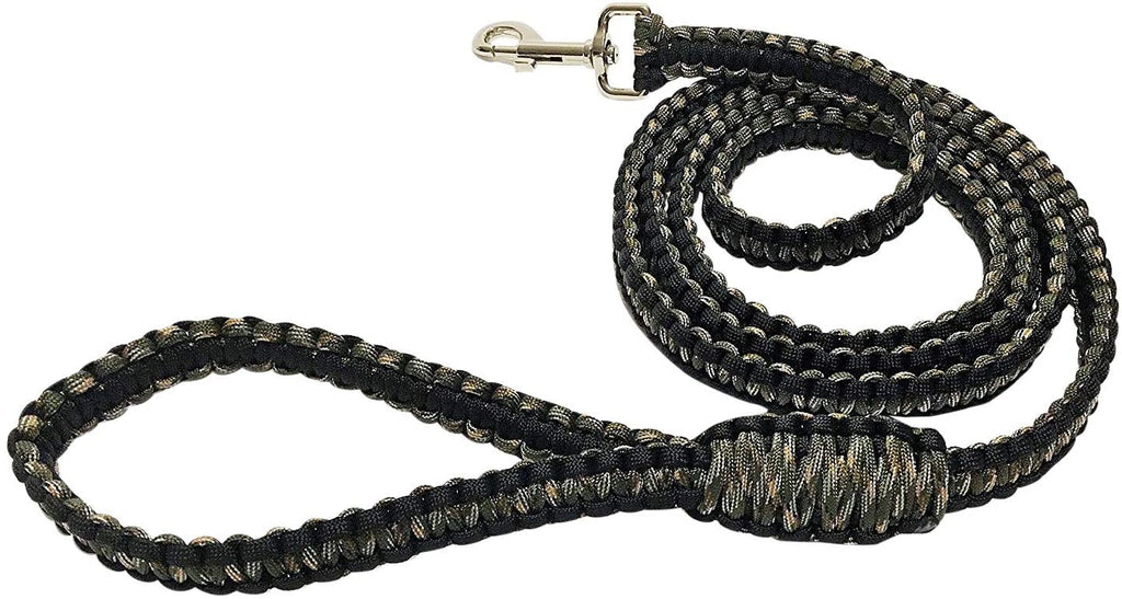 Ten Point Gear 6 Feet Long Nylon Durable & Comfortable Paracord Dog Leash with Strong Metal Clasp (Blind Buddy Camo)