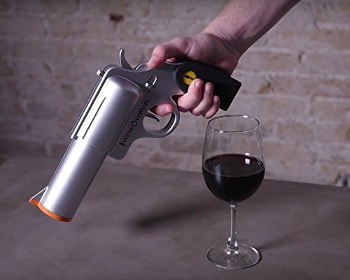WineOvation Electric Gun Wine Opener (Silver)