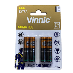 Batteries AAA.  Pack of 4