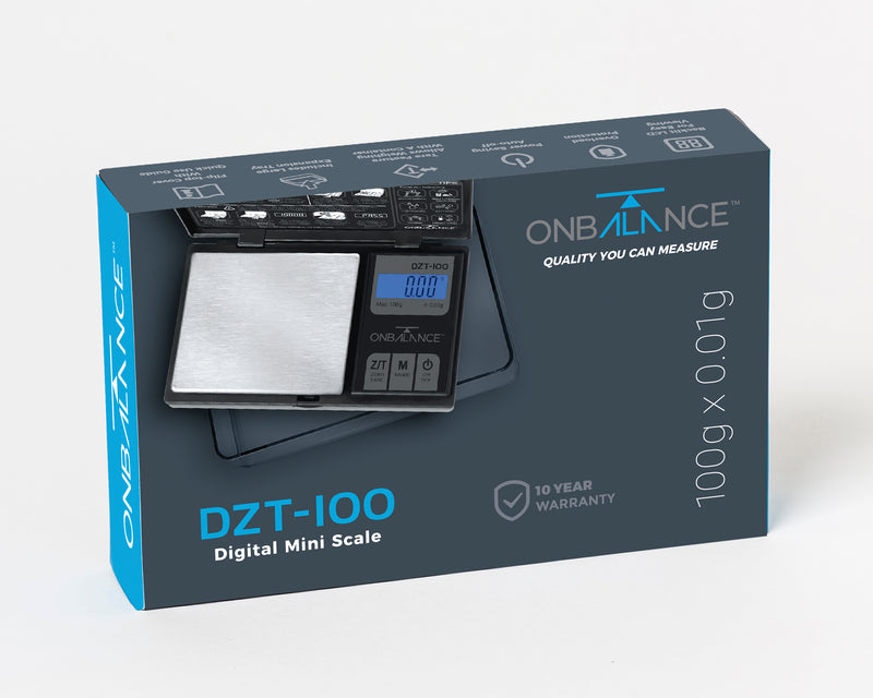 DZT-100-BK On Balance Large Tray Miniscale 100g x 0.01g