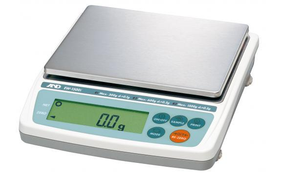 EW-1500i A&D Precision Balance Class II Trade Approved 1500g x 0.5g